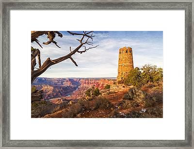 Desert View Watchtower Framed Print by Alex Mironyuk