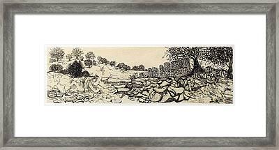Deserted Landscape Framed Print by Jeanne Ward