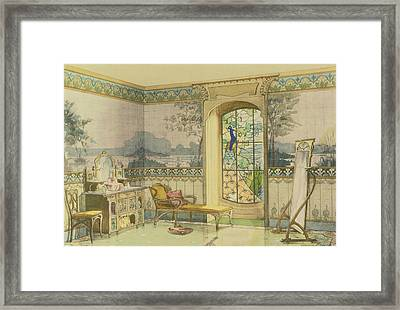 Design For A Bathroom, From Interieurs Framed Print by Georges Remon