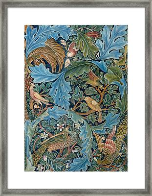 Design For Tapestry Framed Print by William Morris
