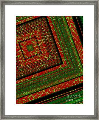 Design Of Lines Over Figures Framed Print by Mario Perez