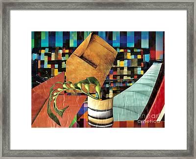 Designer Twig Framed Print by Sarah Loft