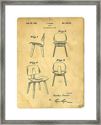 Designs For A Eames Chair Framed Print by Edward Fielding