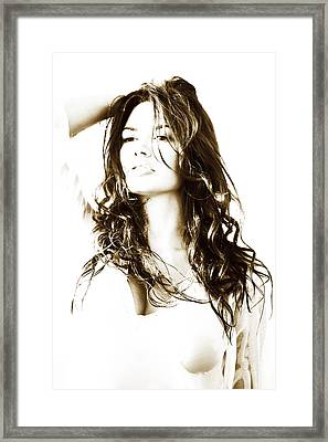 Desire. Seduction Series Framed Print by Jenny Rainbow