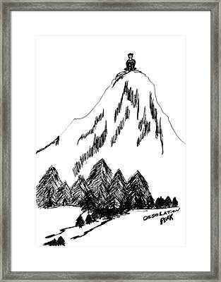 Desolation Peak_alone Time Framed Print by Donna Haggerty