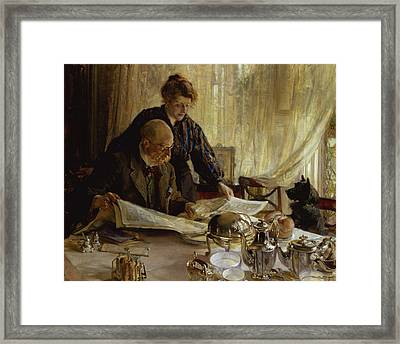 Despatches - Is He Mentioned, 1917 Framed Print by Edgar Bundy