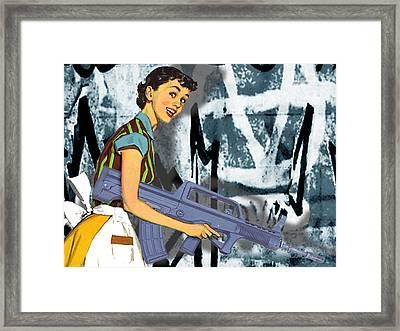 Desperate Housewife Framed Print by Tony Rubino