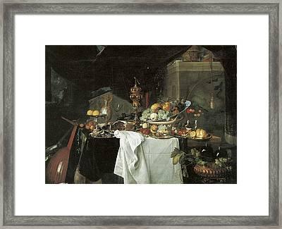 Dessert Still Life Framed Print by Jan Davidsz de Heem