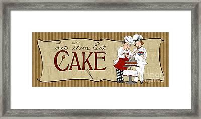 Desserts Kitchen Sign-cake Framed Print by Shari Warren