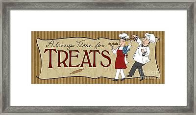 Desserts Kitchen Sign-treats Framed Print by Shari Warren