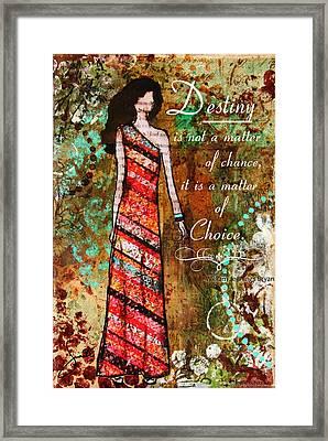 Destiny Inspirational Christian Art Framed Print by Janelle Nichol