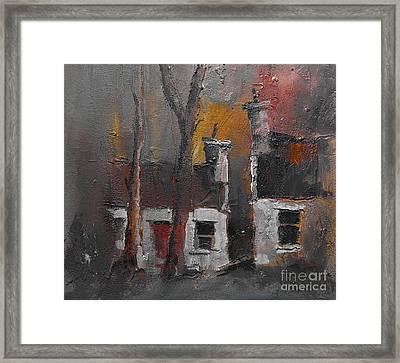 Detached Cottages Framed Print by Val Byrne
