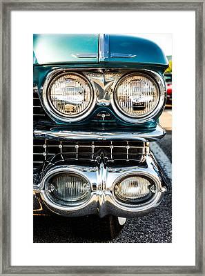 Detail - 1959 Cadillac Sedan Deville Series 62 Grill Framed Print by Jon Woodhams