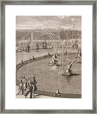 Detail Of Fountain Of Diana And Apollo At Versailles Framed Print by French School