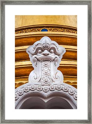 Detail Of The Buddhist Dagoba In Golden Temple. Dambulla Framed Print by Jenny Rainbow