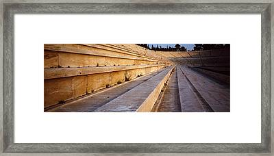 Detail Olympic Stadium Athens Greece Framed Print by Panoramic Images