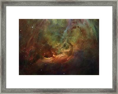 Details Of Orion Nebula Framed Print by Marianna Mills