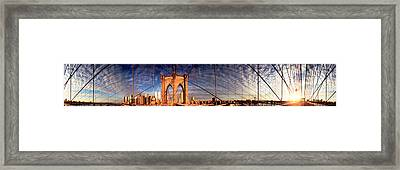 Details Of The Brooklyn Bridge, New Framed Print by Panoramic Images