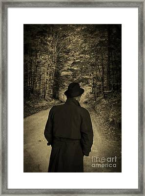 Hard-boiled Detective Novel Framed Print by Edward Fielding