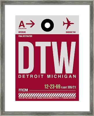 Detroit Airport Poster 2 Framed Print by Naxart Studio