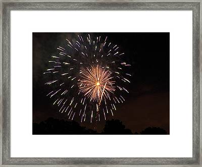 Detroit Area Fireworks -10 Framed Print by Paul Cannon
