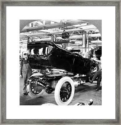 Detroit Auto Factory, C1917 Framed Print by Granger