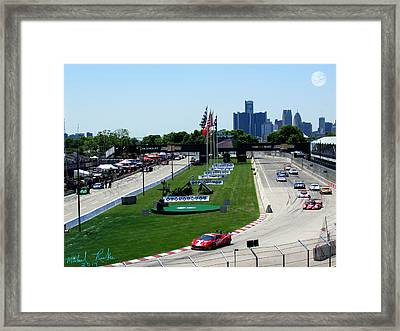 Detroit Grand Prix 2014 Framed Print by Michael Rucker