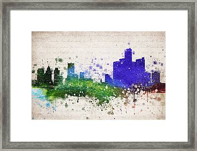 Detroit In Color Framed Print by Aged Pixel