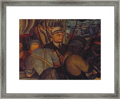 Detroit Industry By Diego Rivera Framed Print by Dotti Hannum
