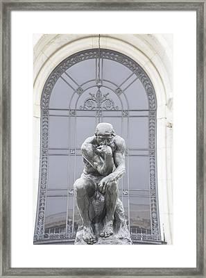 Detroit Institute Of Art Statue Framed Print by John McGraw
