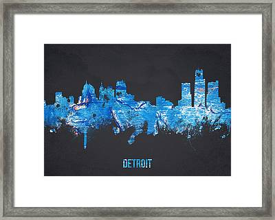 Detroit Michigan Usa Framed Print by Aged Pixel