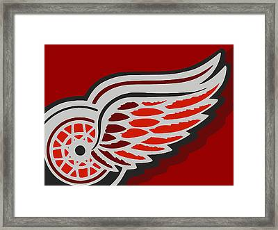 Detroit Red Wings Framed Print by Tony Rubino