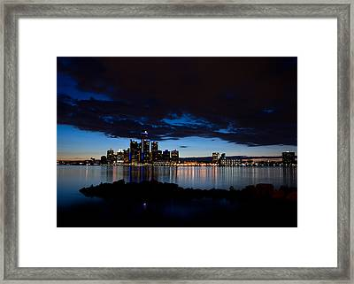 Detroit Twilight Framed Print by Cale Best