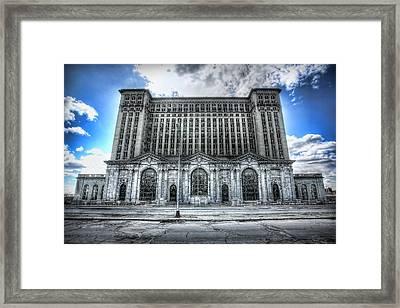 Detroit's Abandoned Michigan Central Train Station Depot Framed Print by Gordon Dean II