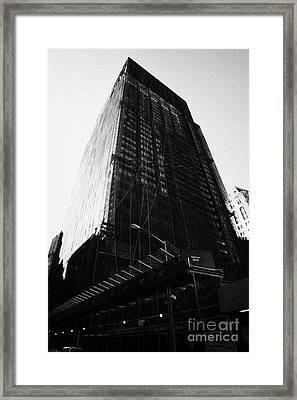 Deutsche Bank Building Due For Demolition Liberty Street Ground Zero Framed Print by Joe Fox