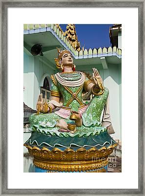 Deva Statue In Myanmar Style Molding Art  Framed Print by Tosporn Preede