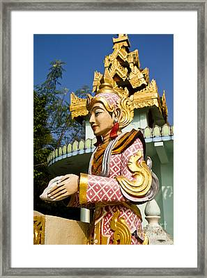 Deva Statue Framed Print by Tosporn Preede