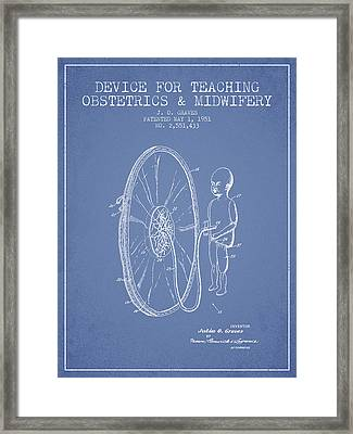 Device For Teaching Obstetrics And Midwifery Patent From 1951 -  Framed Print by Aged Pixel