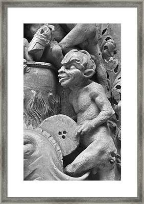 Devil Fanning The Fire Framed Print by French School