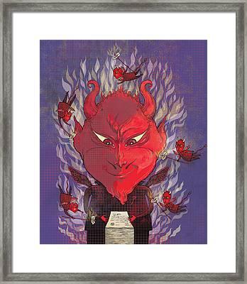 Devil In The Details Framed Print by Dennis Wunsch