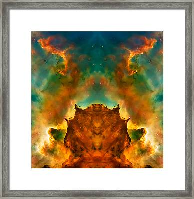 Devil Nebula Framed Print by The  Vault - Jennifer Rondinelli Reilly