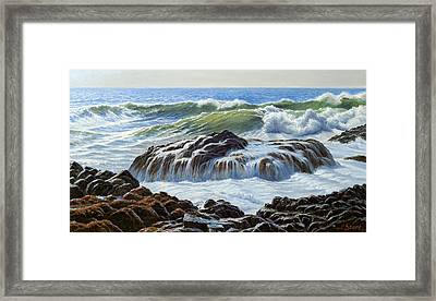 Devil's Churn Area-oregon Coast Framed Print by Paul Krapf