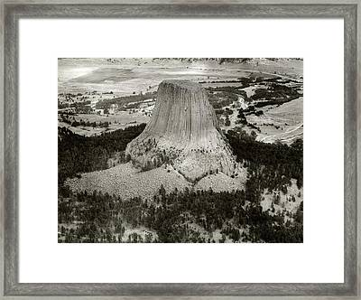Devils Tower Framed Print by American Philosophical Society