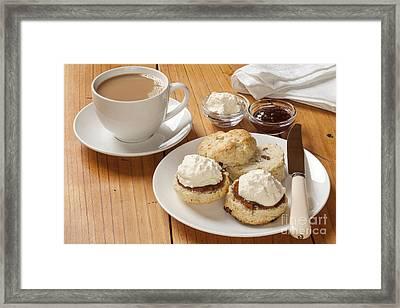 Devon Cream Tea Framed Print by Colin and Linda McKie