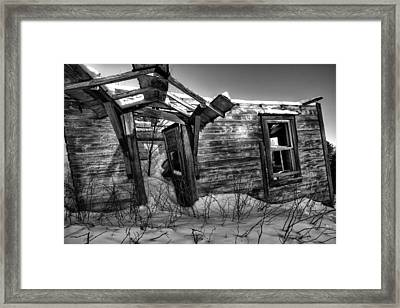 devon township abandonment 01 Pardee Road Framed Print by Jakub Sisak