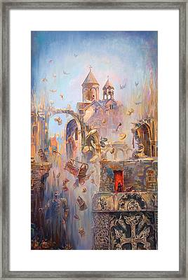 Devoted To The Saint Memory Of The Victims Of Armenian Genocide Framed Print by Meruzhan Khachatryan