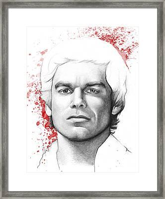 Dexter Morgan Framed Print by Olga Shvartsur