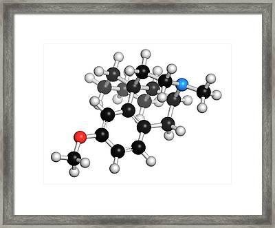 Dextromethorphan Cough Suppressant Drug Framed Print by Molekuul
