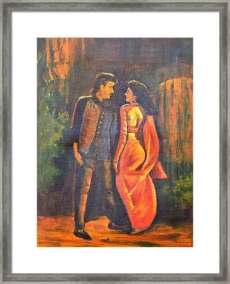 Dhak Dhak Framed Print by Usha Shantharam