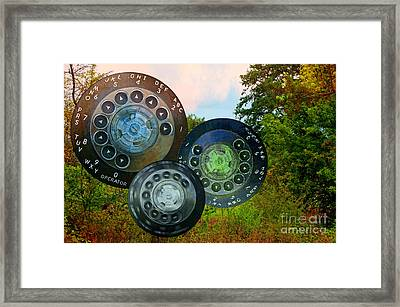 Dialing Up Fall Framed Print by Gwyn Newcombe